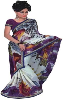 Saloni Printed Bollywood Synthetic Sari
