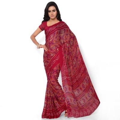 Vogue Era Printed Bandhani Crepe Sari