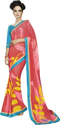 Stay Blessed Printed Fashion Pure Georgette Sari