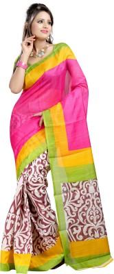 SHRI SAREES Printed Bhagalpuri Banarasi Silk Sari