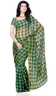 Diva Fashion-Surat Checkered Daily Wear Handloom Art Silk Sari