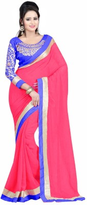 Jhalak Embellished, Embriodered, Self Design Bollywood Chiffon Sari