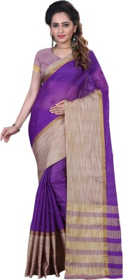 Sanju Sarees Checkered Daily Wear Printed Silk Sari