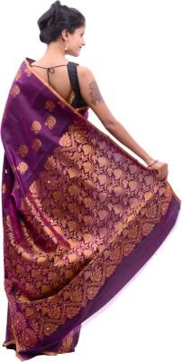 Alamin Self Design Banarasi Silk Sari