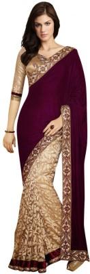 MatindraEnterprise Plain Bollywood Handloom Brasso Sari