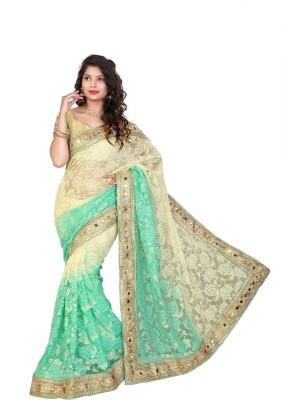 Jhenny Fabrics Embriodered Bhagalpuri Handloom Net Sari