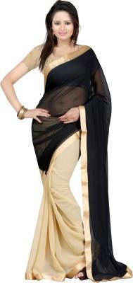 Budget Vastra Solid Fashion Chiffon Sari