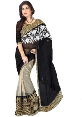 Reliant Group Embriodered Fashion Handloom Georgette Sari