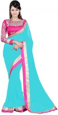 Aaradhya Shop Embriodered Fashion Chiffon Sari