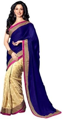 Royalblue Self Design Bollywood Handloom Georgette Sari