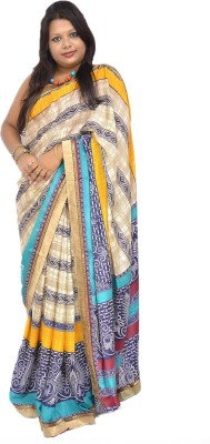 Gulmohaar Graphic Print, Paisley Bollywood Georgette Sari