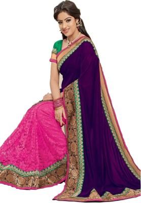 Trishulom Cloth's Online Embriodered Fashion Georgette Sari