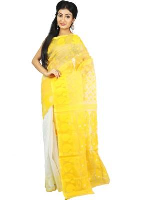 Womilo Self Design Jamdani Cotton Sari