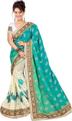 Rudra Fashion Embriodered Fashion Viscose Sari