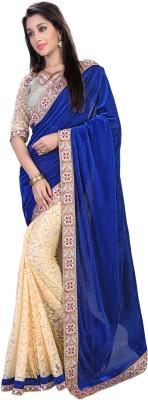Fashion Self Design Fashion Velvet Sari