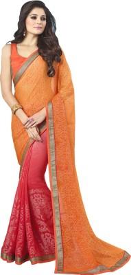 Sahiba Striped Fashion Brasso Sari