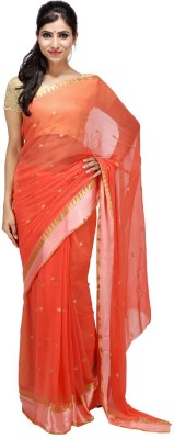 KALYANAM Plain Maheshwari Chiffon Sari