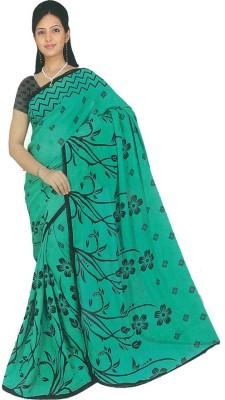 Maxusfashion Printed Fashion Chiffon Sari