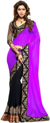 Valehri Self Design Fashion Georgette Sari