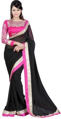 Maxusfashion Embriodered Daily Wear Chiffon Sari