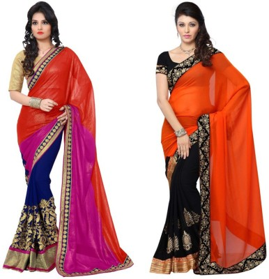 Red Carpet Embriodered Bollywood Georgette, Georgette Sari