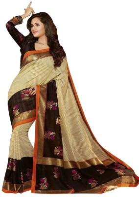 Nilesh Fab Printed Bhagalpuri Raw Silk Sari