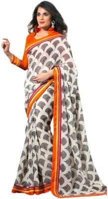 Nanda Silk Mills Printed Bollywood Cotton, Silk Sari
