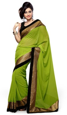 JK Creation Plain Fashion Georgette Sari