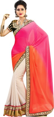 Womanethnicwear Embriodered Fashion Georgette Sari