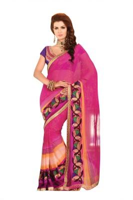 Kashish Lifestyle Printed Fashion Handloom Georgette Sari