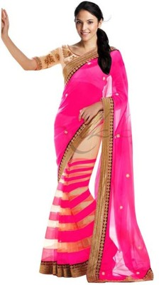 MatindraEnterprise Plain Fashion Handloom Net Sari