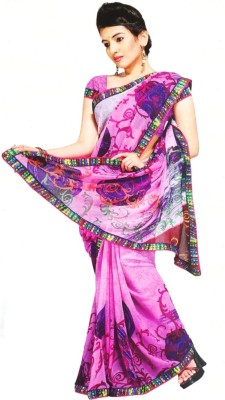 Coloursexports Floral Print Bollywood Pure Georgette Sari