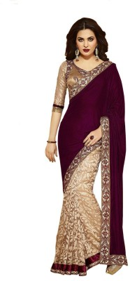 Vdimpex Self Design Bollywood Georgette Sari