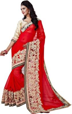 Sundari Fashion Embriodered Fashion Viscose, Poly Silk Sari
