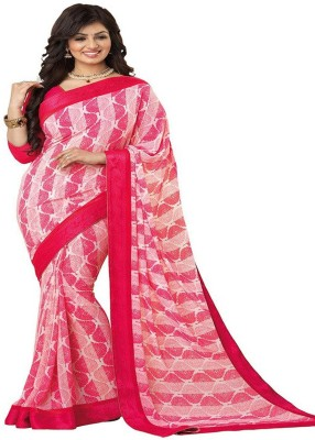 Z HOT FASHION Striped Fashion Georgette Sari