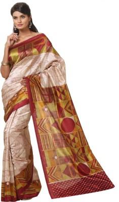 Cutie Pie Printed Fashion Handloom Art Silk Sari