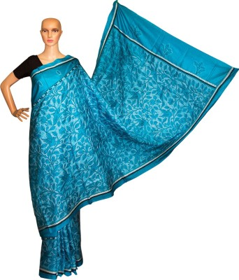 Prateeti Embriodered Kantha Handloom Silk Sari