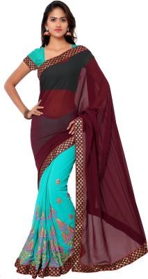 Gunjan Creation Embriodered Fashion Georgette Sari