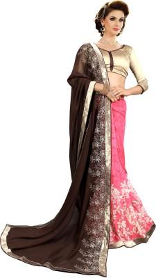 Kabira Floral Print Fashion Georgette Sari