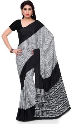 Kvsfab Printed Fashion Crepe Saree(Multicolor) at flipkart
