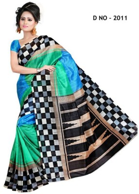 Shoppingekart Printed Bhagalpuri Art Silk Sari
