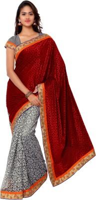 Gunjan Creation Self Design Fashion Velvet Sari