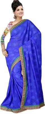 Surangi Sarees Embriodered Fashion Handloom Pure Georgette Sari