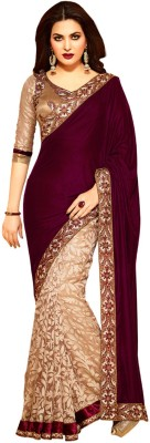EthnicBasket Embriodered Fashion Velvet Sari