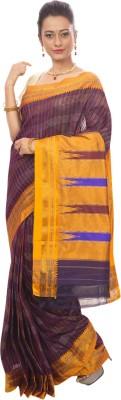 Dhammanagi Striped, Woven Ilkal Handloom Silk Cotton Blend Sari