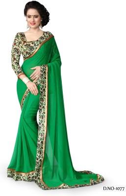 A3 Fashion Printed Fashion Pure Chiffon, Printed Silk Sari