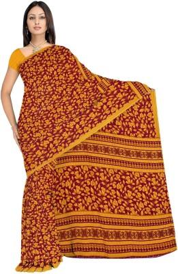 365 Labels Floral Print Fashion Crepe Sari