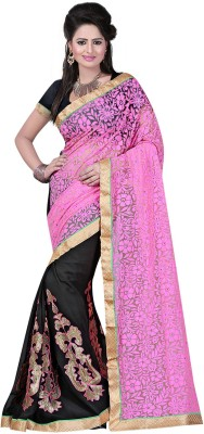 SK Embriodered Fashion Net Sari