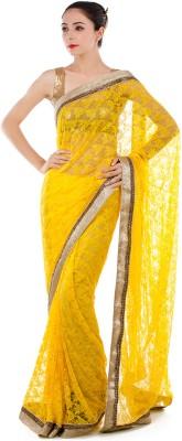 Bazzzar Self Design Fashion Net Sari
