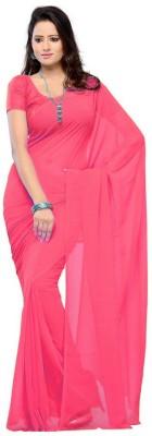 Kreta Fab Tex Plain Daily Wear Georgette Sari